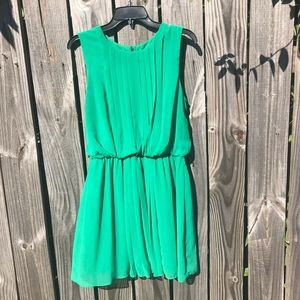 Macy's Green Dress with Chiffon Layover